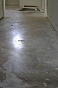 Old hallway to bedrooms.