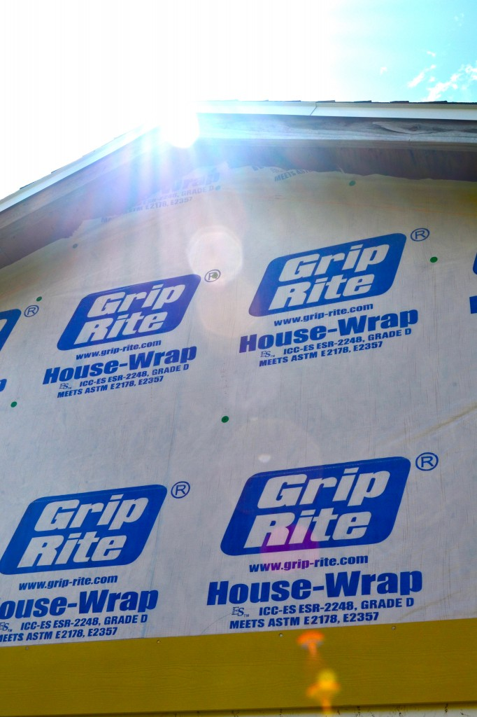 Grip-Rite house-wrap under the new siding.
