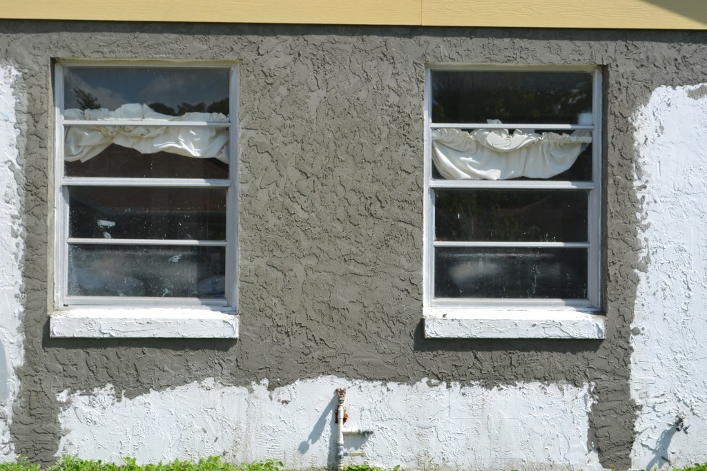 Completed stucco.
