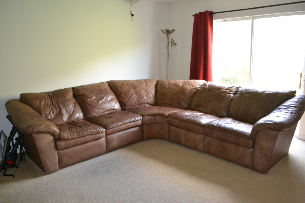 Who knew it would be so hard to give away a leather sofa.