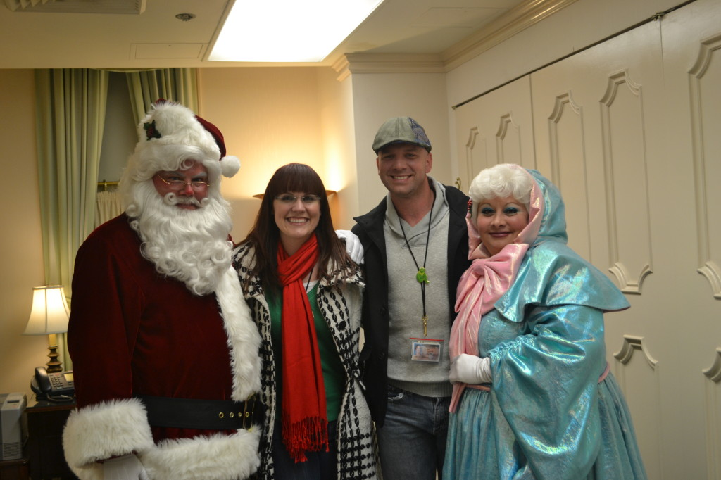 Merry Christmas from Santa, me, Matt & the Fairy Godmother!