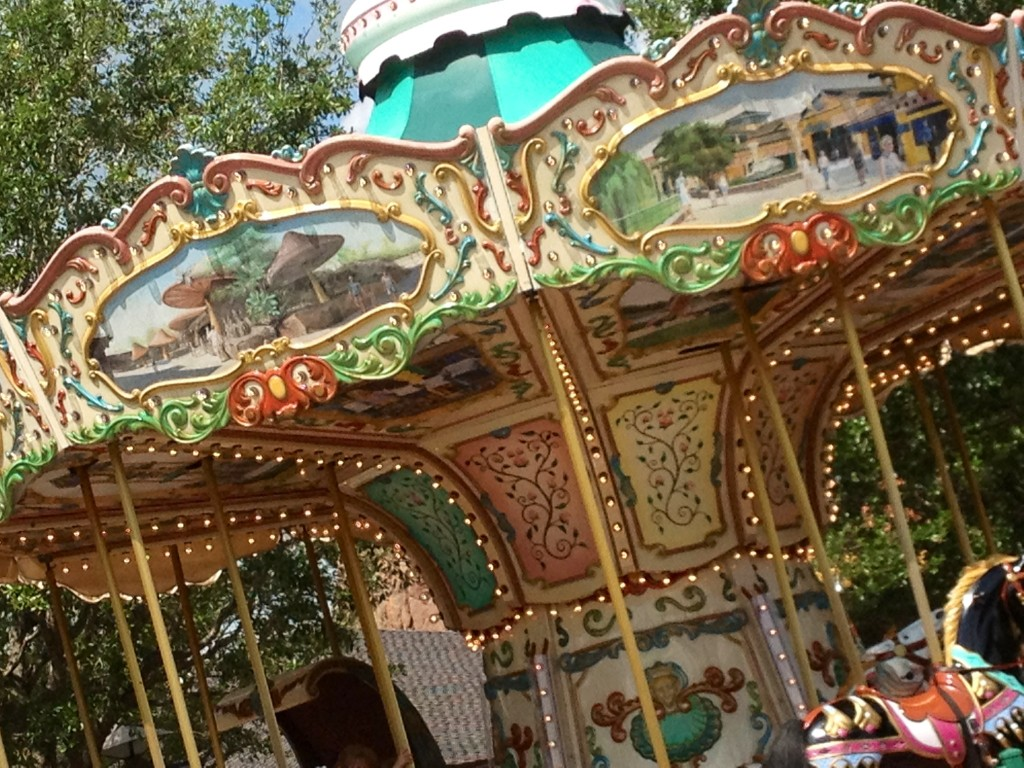 The thrills and shrills of a carousel.